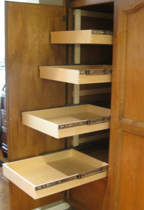 Drawer slide sliding drawers for kitchen cabinets for Kitchen cabinet shelves